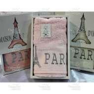 Полотенце махровое с вышивкой PARIS (50*100 см)
