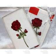 Полотенце махровое с вышивкой SINGLE ROSE (50*90 см)