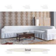 Чехол на угловой диван Venera, белый