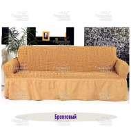 Чехол на 3-хм диван Venera, бронзовый