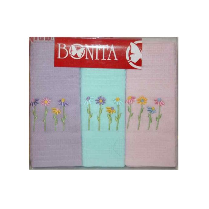 Набор вафельных полотенец Цветы