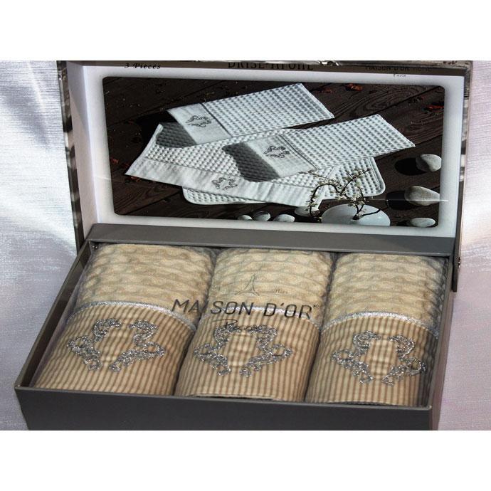Набор салфеток вафельный со стразами BRISE APONE (3 шт)