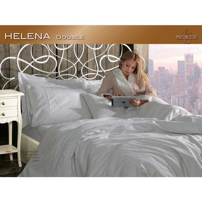 КПБ сатин-жаккард с кружевом HELENA (евро)