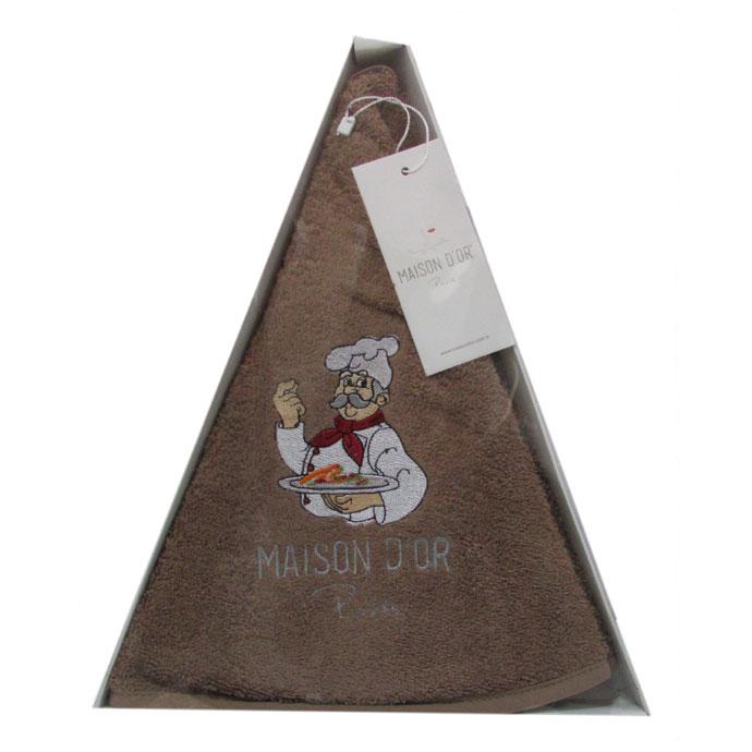 Полотенце махровое круглое с вышивкой MAXI BOX (1 шт)