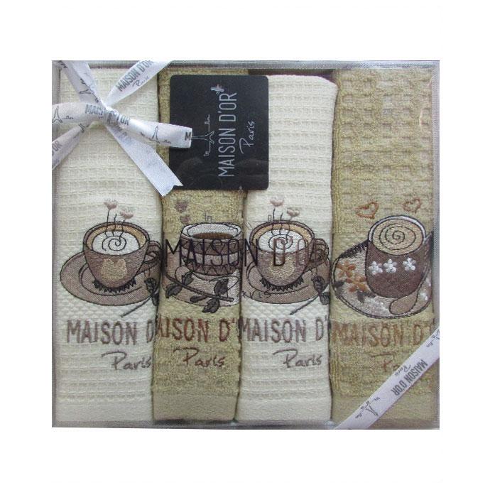 Набор махровый/вафельный MOSAIC (4 шт)