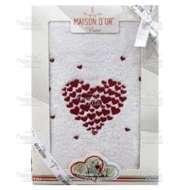 Полотенце махровое с вышивкой AMAUR (50*90 см)