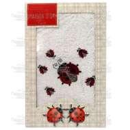 Полотенце махровое с вышивкой LADYBUG (50*90 см)