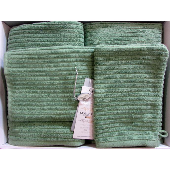 Набор махровый + перчатка RIVER (4 шт)