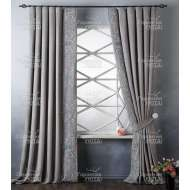 Комплект штор с вышивкой ЛЕЯ