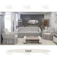 Чехол на 3-хм диван + 2 кресла Venera, серый