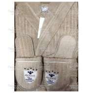 Набор (халат с капюшоном и тапки) махровый мужской RODOLPHE (размер M)