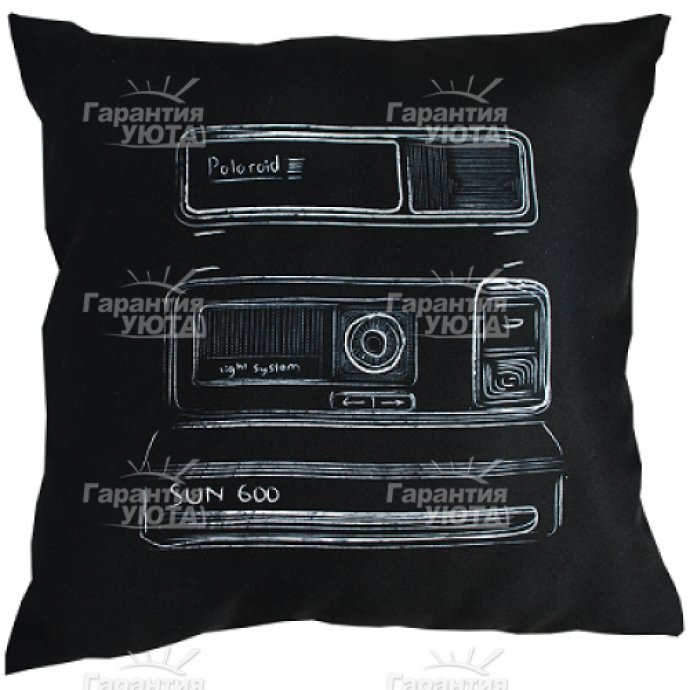 Декоративная подушка Чёрно-белая
