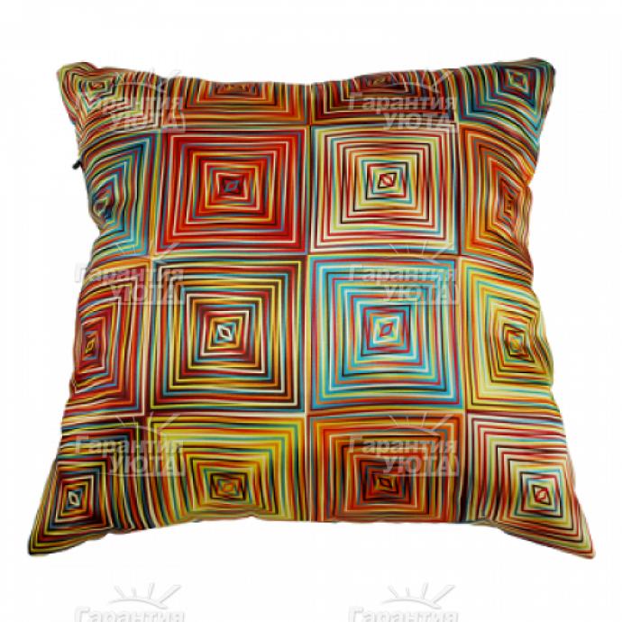 Декоративная подушка Полоски+Клетки
