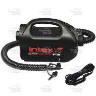 Насос электрический Intex 68609, Quick-Fill High PSI, 12 В/220 В, 2-х скоростной, 3 насадки в комплекте