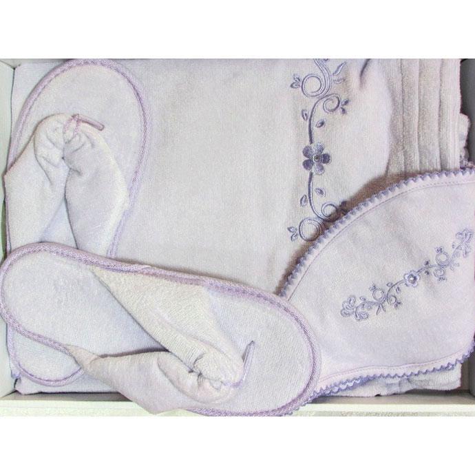 Набор для сауны (парео, повязка, тапочки) BELLE (размер M)