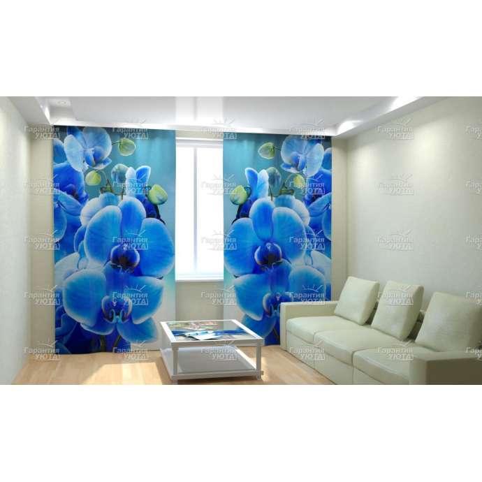 Фотошторы Голубая орхидея