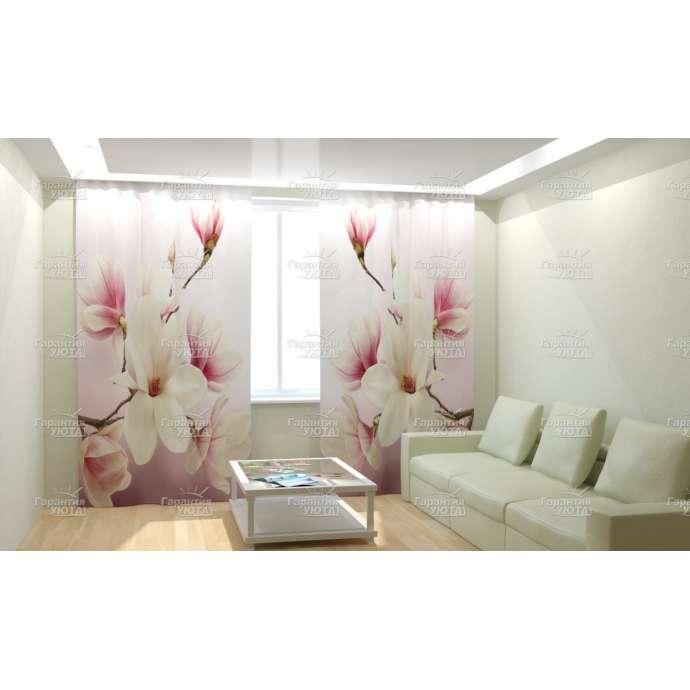 Фотошторы Нежные розовые цветочки